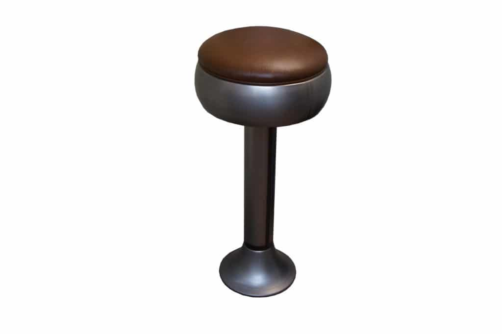 CLEAR METAL FINISH BOLT DOWN BARSTOOL